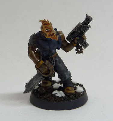 Chaos Cultist converted with Kairic Acolyte head for Thousand Sons Space Marines, Warhammer 40,000