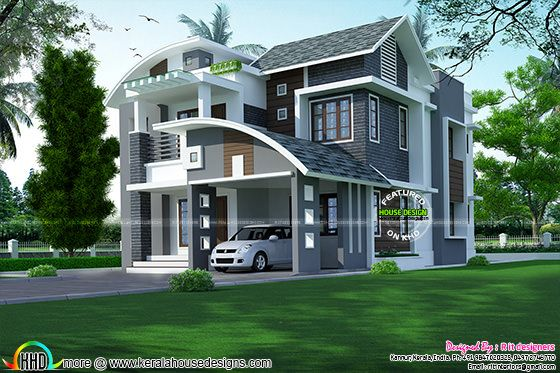 4 bedroom, 2410 sq-ft mixed roof home