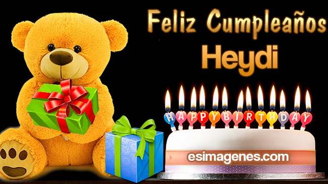 Feliz cumpleaños Heydi