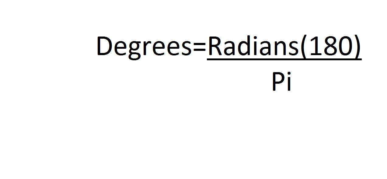 Convert From Radians to Degrees  Bing images