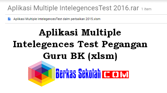Aplikasi Multiple Intelegences Test Pegangan Guru BK (xlsm)