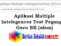 Aplikasi Multiple Intelegences Test Pegangan Guru BK (xlsm)