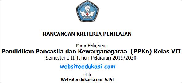 Rancangan Kriteria Penilaian PKn Kelas 7 Kurikulum 2013