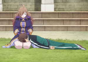 Lap pillow, Wiz and Kazuma