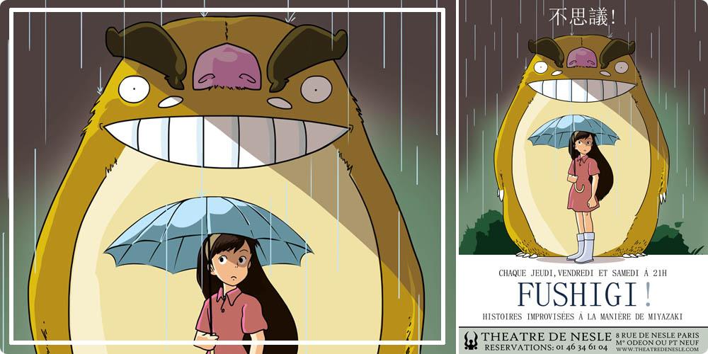 théâtre Nesle FUSHIGI : improvisation selon Miyazaki
