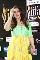 Sridevi Telugu Actressi in green Yellow Anarkali Dress at IIFA Utsavam Awards 025.JPG
