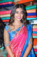 Puja Hegde looks stunning in Red saree at launch of Anutex shopping mall ~ Celebrities Galleries 072.JPG