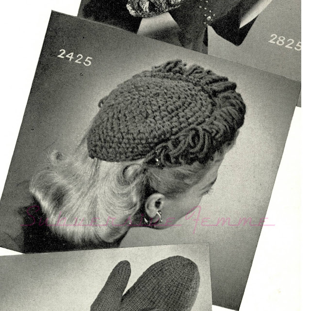 free vintage knitting pattern crochet hat 1940s