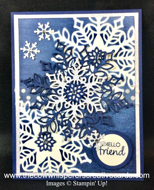 Card, Snowfall Thinlits Dies, Brayer, Stencil
