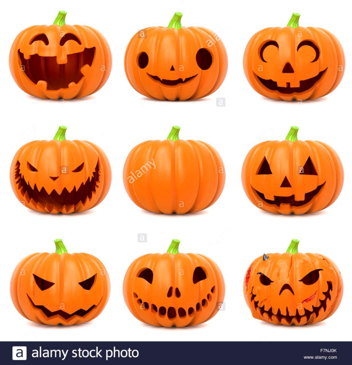 Funny Halloween pumpkins Stock Photo 90829555 Alamy