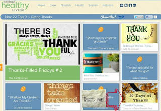 healthy living daily buzz for 30 days of thanks challenge