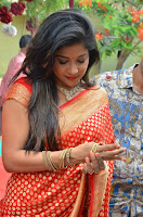 Sakshi Agarwal  in Orange Saree at Inauguration of Handloom And Handicraft exhibition ~  Exclusive 28.JPG
