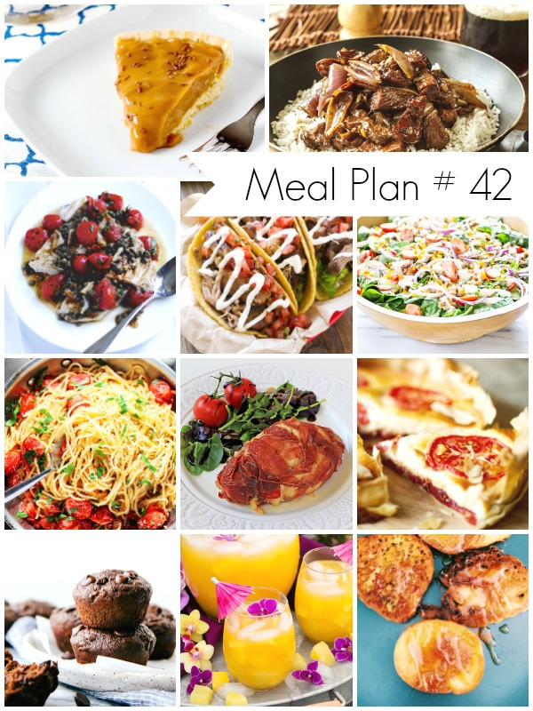 Weekly Meal Plan loaded with delicious recipes - Ioanna's Notebook