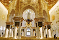Costly Interior in  Zayeed Mosque