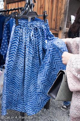 Fabric tour at antique market