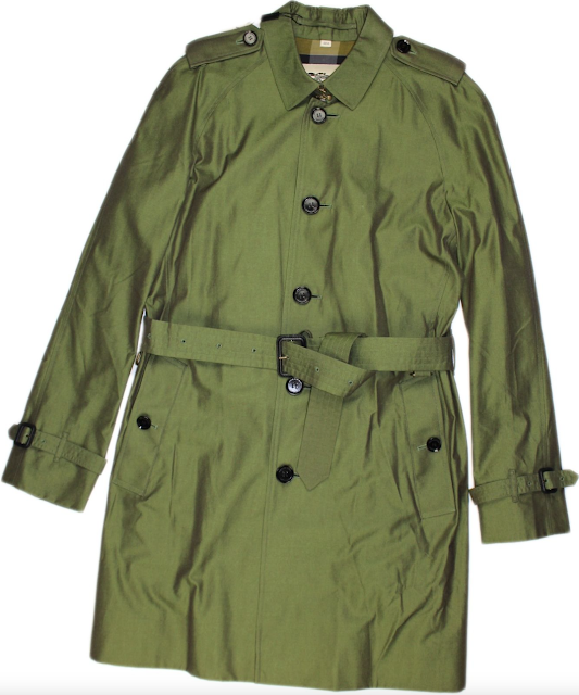 Burberry London Asparagus Trench Coat