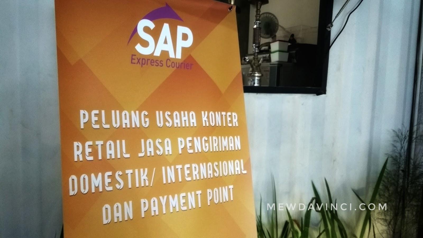Banner ekspedisi SAP Express Courier