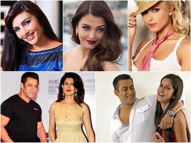 salman khan + girlfriends