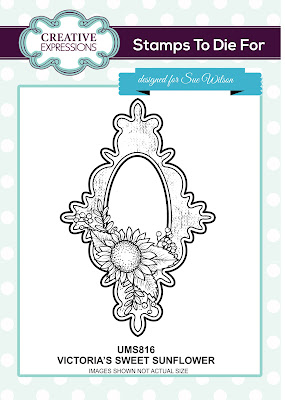 Creative Expressions Stamps To Die For Victoria's Sweet Sunflower UMS816