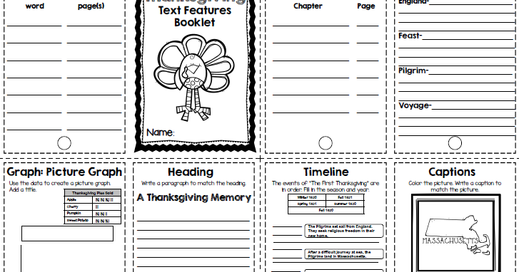 *The Teaching Oasis*: Thanksgiving Text Features Booklet