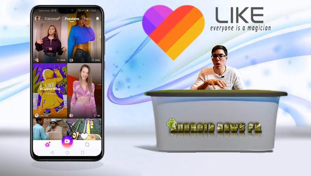 Application Like : effets vidéo