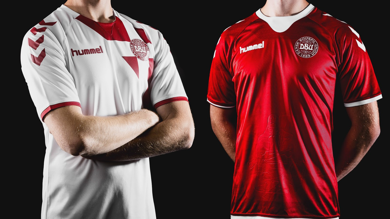 buy popular 87c86 d8d38 Denmark 2018 World Cup Kits Teased - All You Need to Know ...