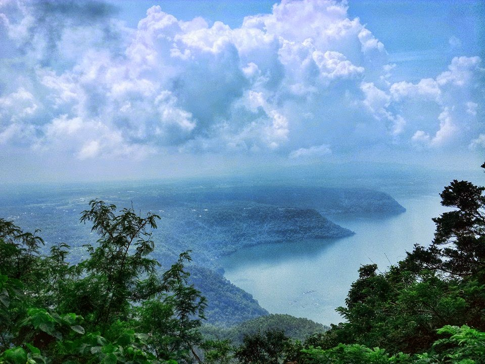 Overlooking Taal Lake at a Rest Station