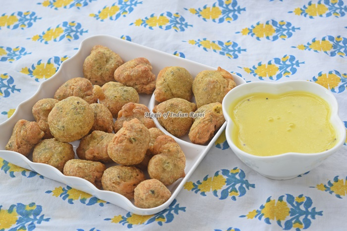 Methi Na Gota Recipe - Kasuri Methi Bhajiya - Priya R- Magic of Indian Rasoi
