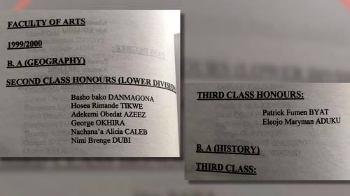 1999/2001 BA Geography Third class category