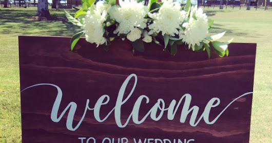 Welcome Wedding Signs!