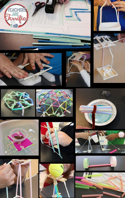 STEM- just look at how many things can be built with a very simple materials- STRAWS! Check this blog post for more ideas and hints about must-have STEM materials!