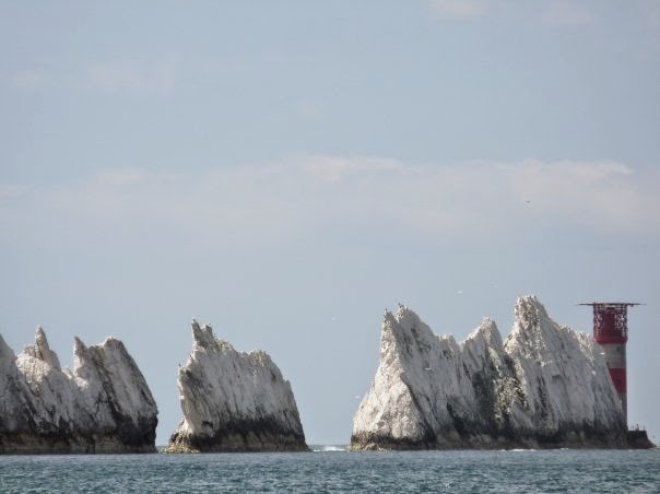 The Needles just off Alum Bay on the Isle of Wight