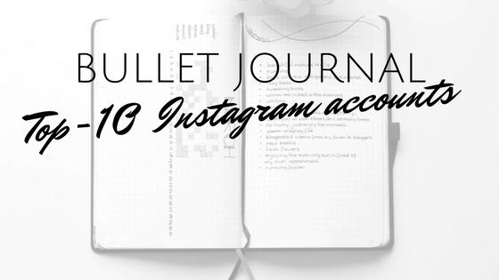 instagram bullet journal