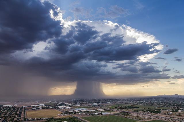 Espeluznante tormenta de arena en Phoenix, Arizona