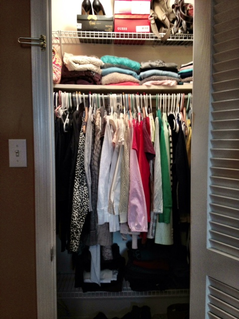 Do You Have An Insanely Small Closet I D Love To Hear Your Tips On How Organize It Make A Useful E
