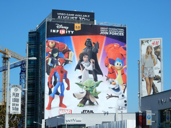 Giant Disney Infinity 3.0 video game billboard