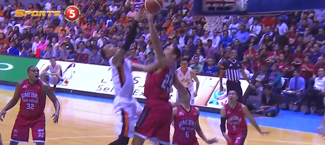 Japeth Aguilar's MONSTER Rejection On Chris Newsome (VIDEO)