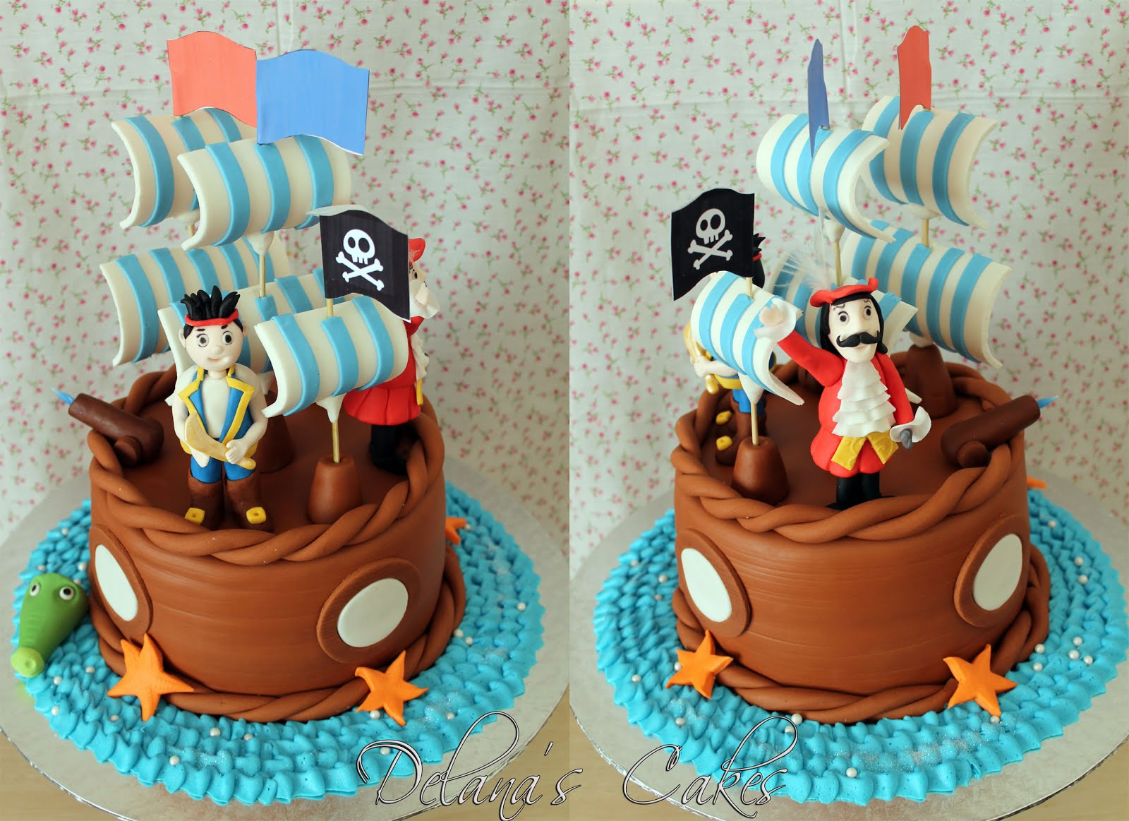 jake and the neverland pirates cake delana s cakes jake and the neverland cake 5217