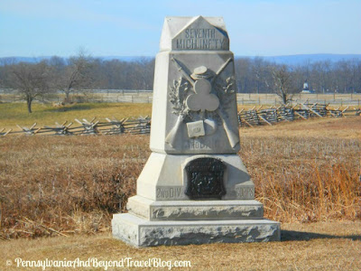 Gettysburg Battlefield -7th Michigan Infantry Monument