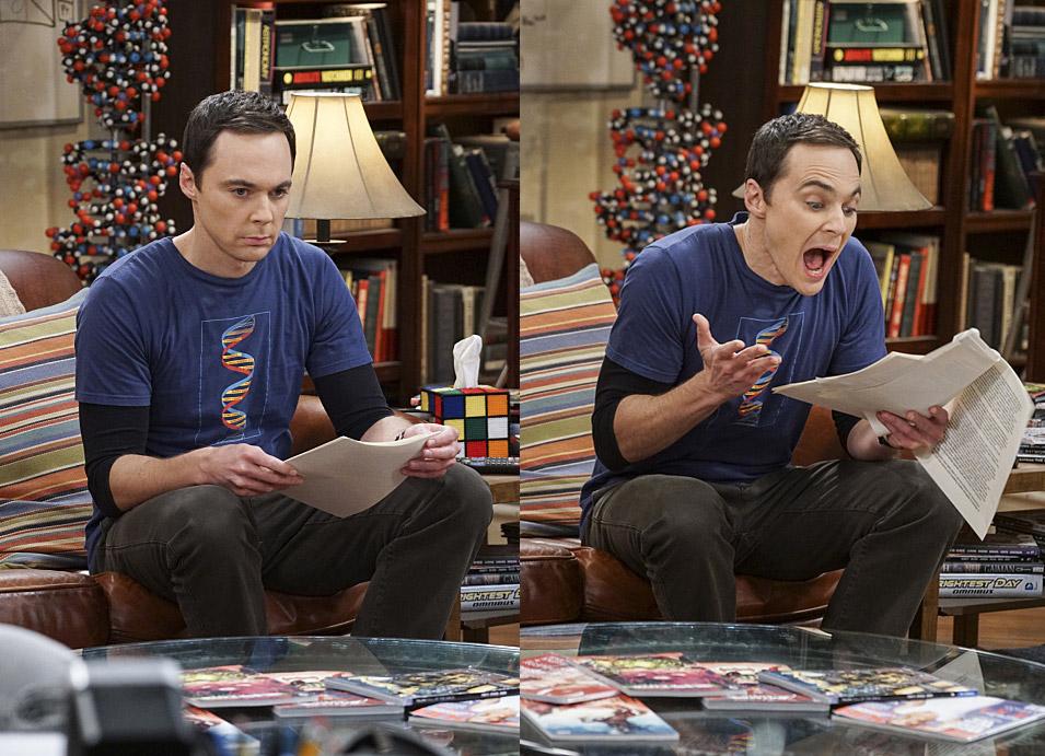 Sheldon haciendo lo suyo