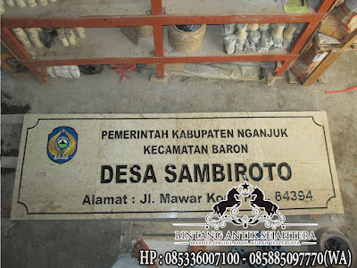 nameboard batu marmer