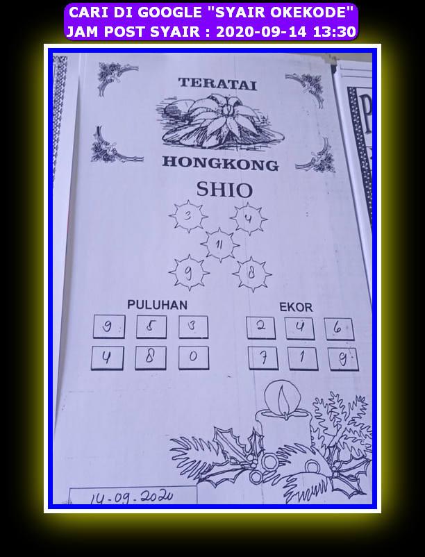 Kode syair Hongkong Senin 14 September 2020 99