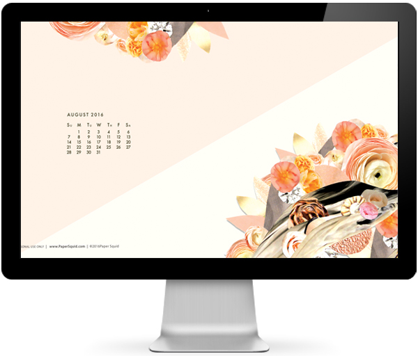 August 2016 desktop wallpaper, free desktop wallpaper, collage desktop wallpaper, modern desktop wallpaper, august 2016 calendar desktop wallpaper background by papersquid