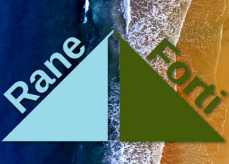 Logo Rane Forti, fondo de playa