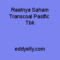 Realnya Saham Transcoal Pacific Tbk
