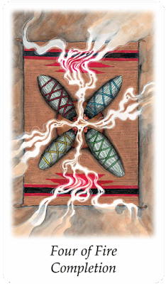 Vision Quest Tarot Four of Fire