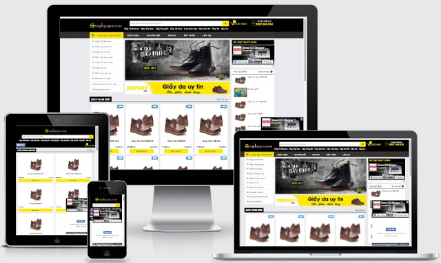 Templates blogspot bán giày chuẩn seo