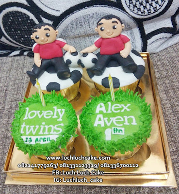 Cupcake Ulang Tahun Anak Kembar
