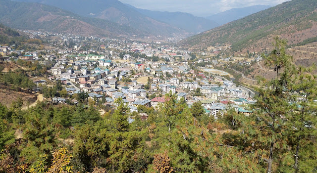 View of Thimpu from BBS Point