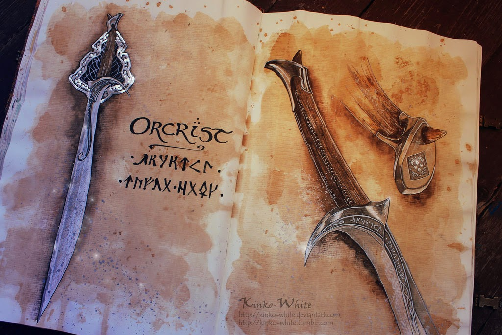 10-Orcrist-Thorin-Oakenshield-Kinko-White-The-Hobbit-Watercolors-www-designstack-co
